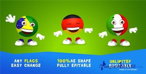 Soccer-ball Character - After Effects Project (Videohive)