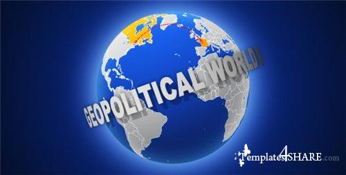 Geopolitical World Map - After Effects Project (Videohive)