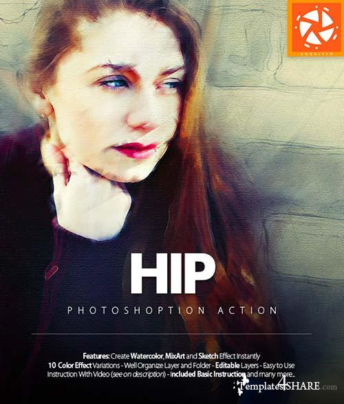 GraphicRiver Hip Photoshop Action - Photo Effects