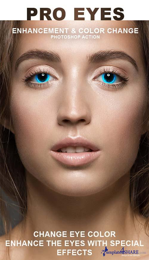 GraphicRiver Pro Eyes Enhancement & Color Change - PS Action