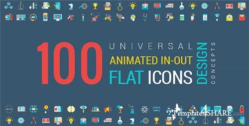 Animated Flat Icons and Concepts Pack - After Effects Project (Videohive)