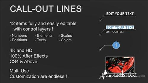 Line Call-Outs - After Effects Project (Videohive)