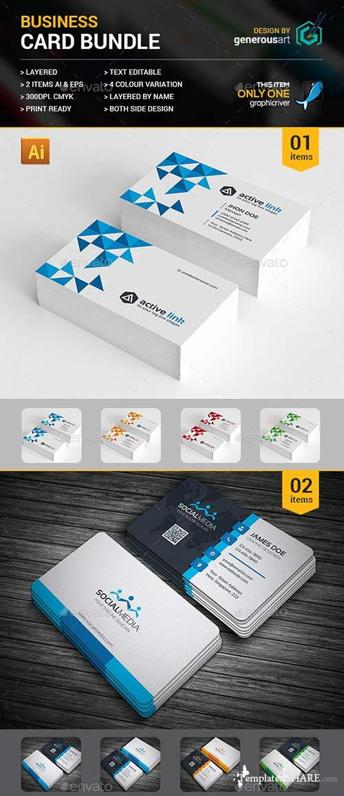 GraphicRiver Business Card Bundle 2 in 1