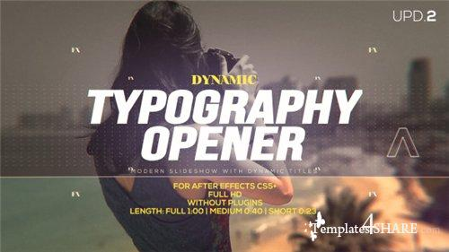 Dynamic Typography Opener - After Effects Project (Videohive)