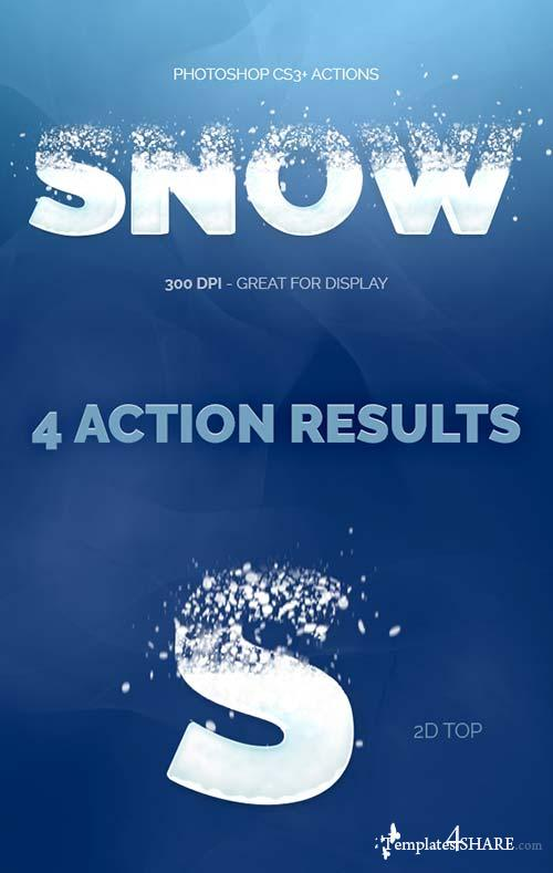 GraphicRiver Snowy Text - Photoshop Actions