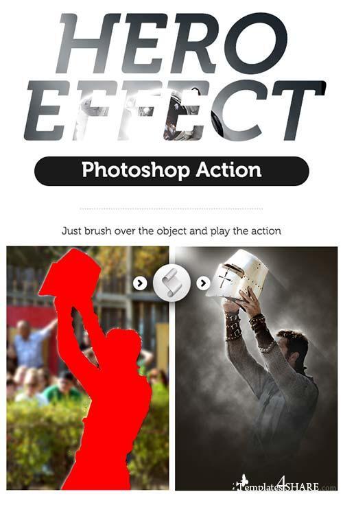 GraphicRiver Hero Effect Photoshop Action