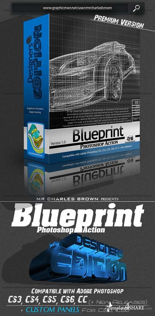 GraphicRiver Blueprint Photoshop Action - Designers Edition