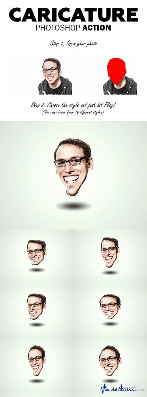 GraphicRiver Caricature Photoshop Action