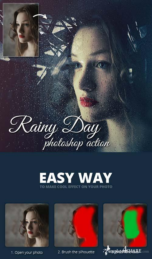 GraphicRiver Rainy Day Photoshop Action