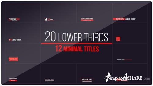 20 Lower Thirds and 12 Titles - After Effects Project (Videohive)