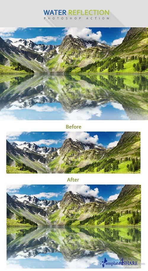 GraphicRiver Water Reflection PS Action