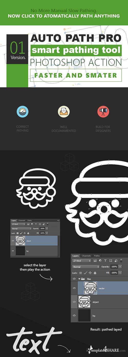 GraphicRiver Auto Path Pro - Ps Action