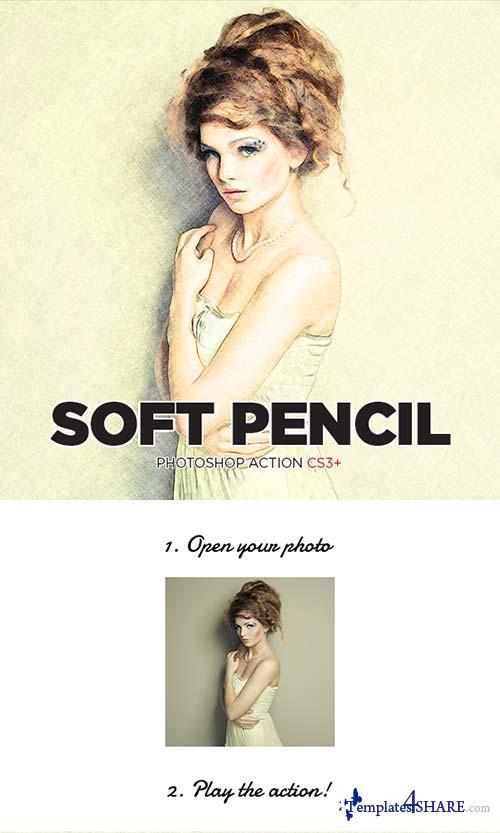 GraphicRiver Soft Pencil Sketch Photoshop Action CS3+