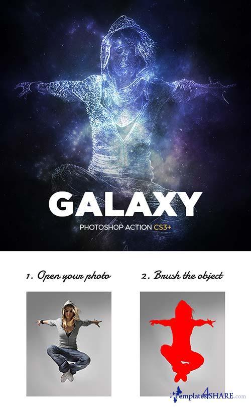 GraphicRiver Galaxy Photoshop Action CS3+