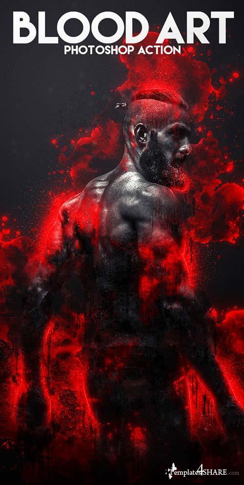 GraphicRiver Blood Art Photoshop Action