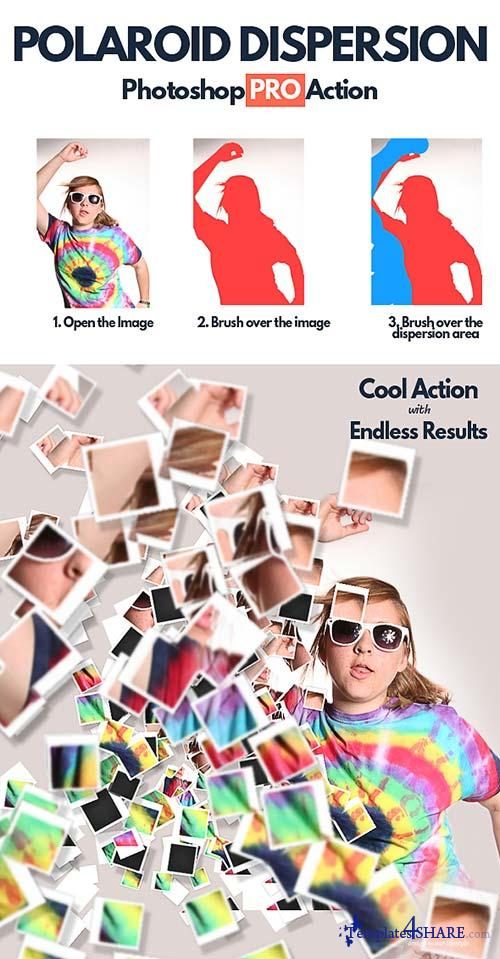 GraphicRiver Polaroid Dispersion Photoshop Action