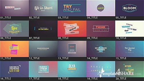 Motion Titles Pack - After Effects Project (Videohive)