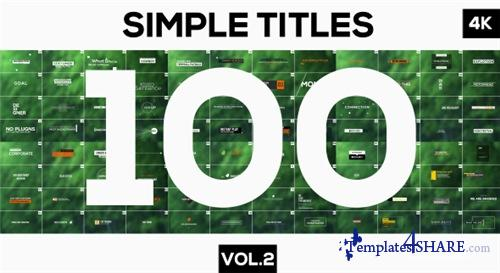 100 Motion Titles and Lowerthirds Vol.2 - After Effects Project (Videohive)