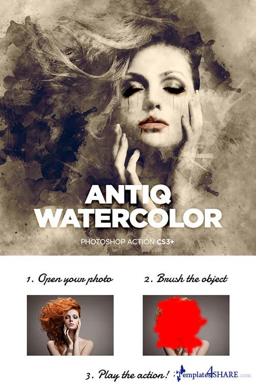 GraphicRiver Antiq Watercolor CS3+ Photoshop Action