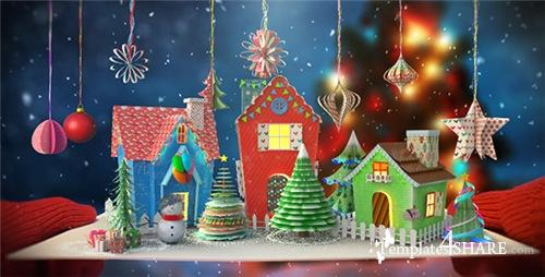Christmas Paper Card - After Effects Project (Videohive)