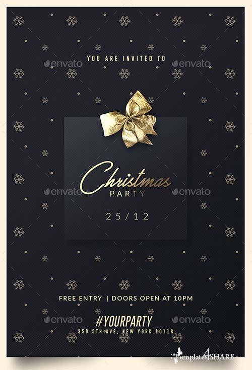 GraphicRiver 2 Classy Christmas Party | Invitation Templates