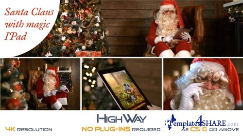 Santa Claus With Magic IPad - After Effects Project (Videohive)