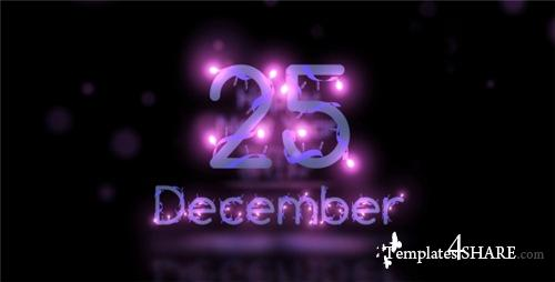 Christmas Lights Font - After Effects Project (Videohive)