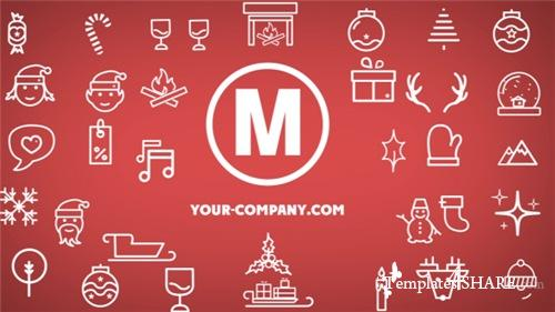 Minimal Christmas Icons - After Effects Project (Videohive)