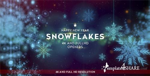 Snowflakes 4K Openers - After Effects Project (Videohive)