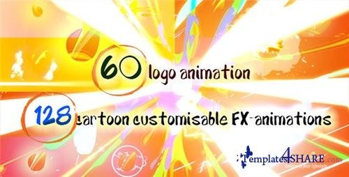 60 Quick Cartoon Logo Reveal Pack & 128 Cartoon FX in 9 Packs - After Effects Project (Videohive)