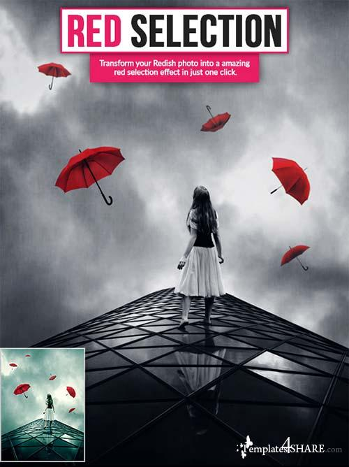 GraphicRiver Red Selection Ps Action