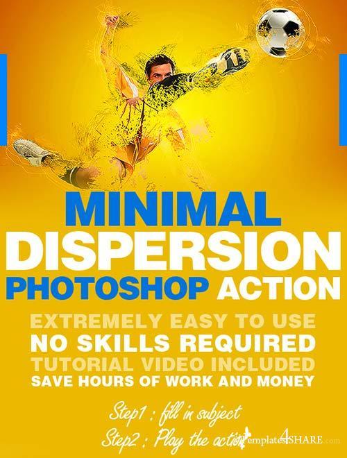 GraphicRiver Minimal Dispersion Photoshop Action
