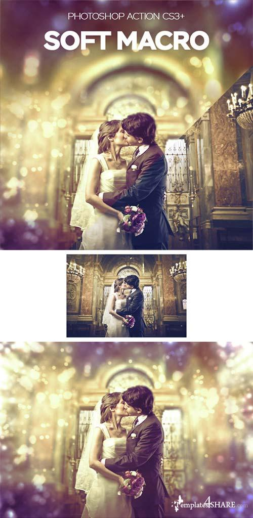 GraphicRiver Macro Soft Photoshop Action