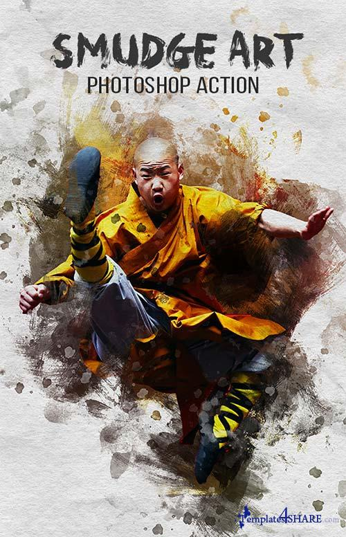 GraphicRiver Smudge Art Photoshop Action