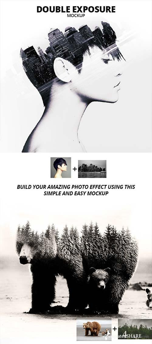 GraphicRiver Double Exposure Photoshop Mockup