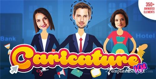 Caricature Toolkit   Face Cut Out   Explainer video toolkit - After Effects Project (Videohive)