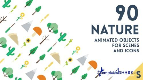 90 Animated Nature Elements - After Effects Project (Videohive)