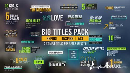 Big Titles Pack - After Effects Project (Videohive)