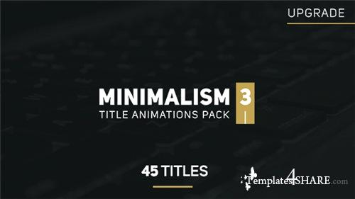 Minimalism 3 - After Effects Project (Videohive)