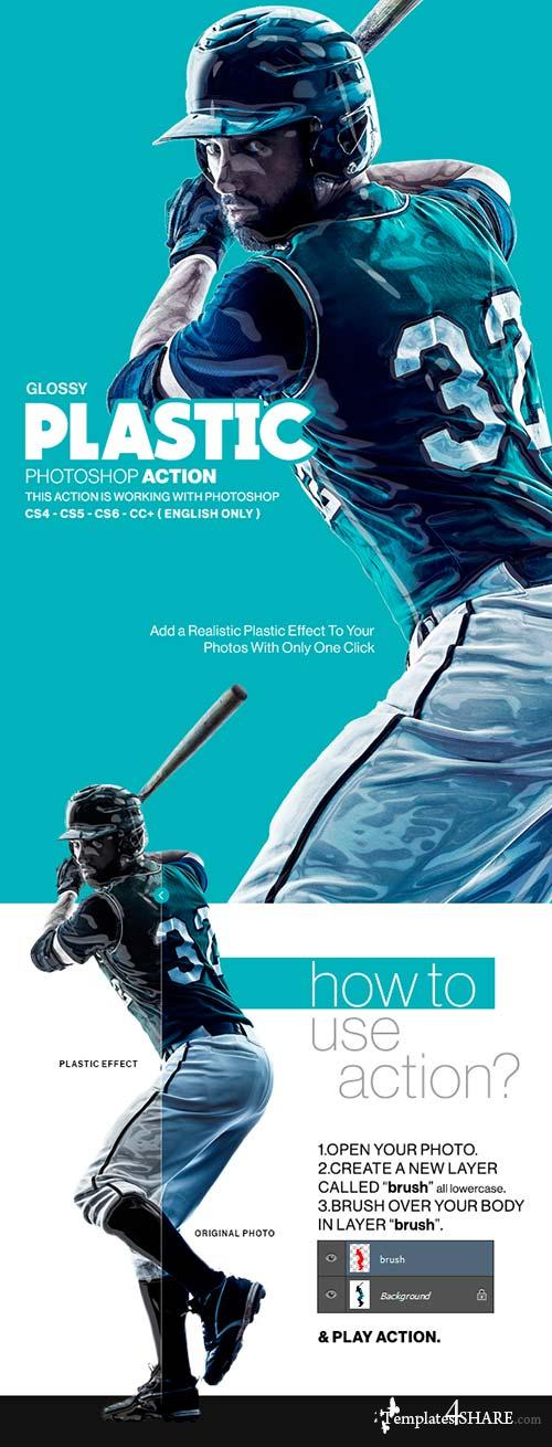 GraphicRiver Glossy Plastic Photoshop Action