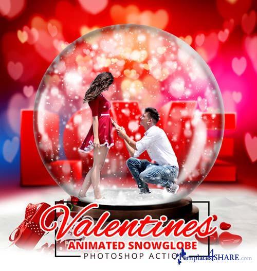 GraphicRiver Gif Valentine Animated Snow Globe Action
