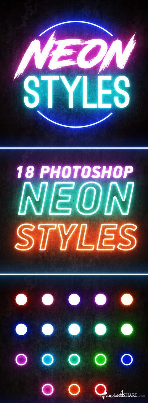 GraphicRiver Photoshop Neon Styles