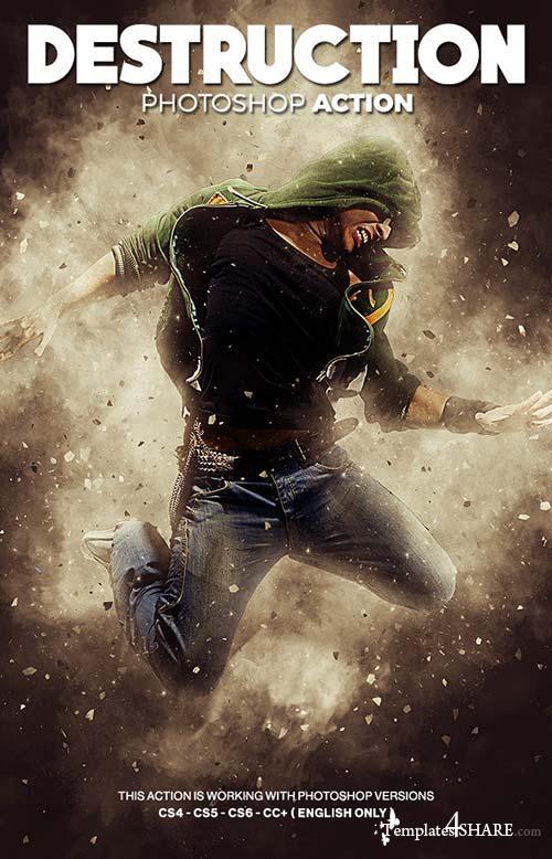 GraphicRiver Destruction Photoshop Action - Explosion Effect