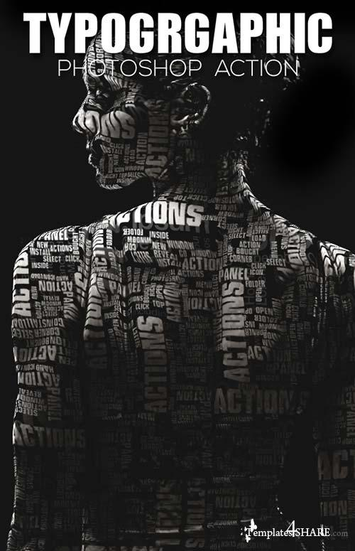 GraphicRiver Typographic Photoshop Action