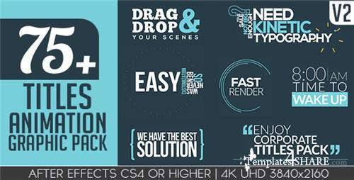 Titles Animation Graphic Pack - After Effects Project (Videohive)