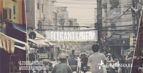 Elegant Lines Slideshow - After Effects Project (Videohive)