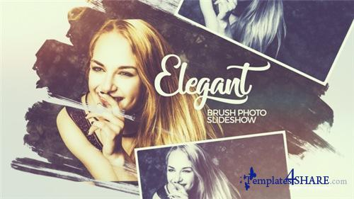 Elegant Brush Photo Slideshow - After Effects Project (Videohive)