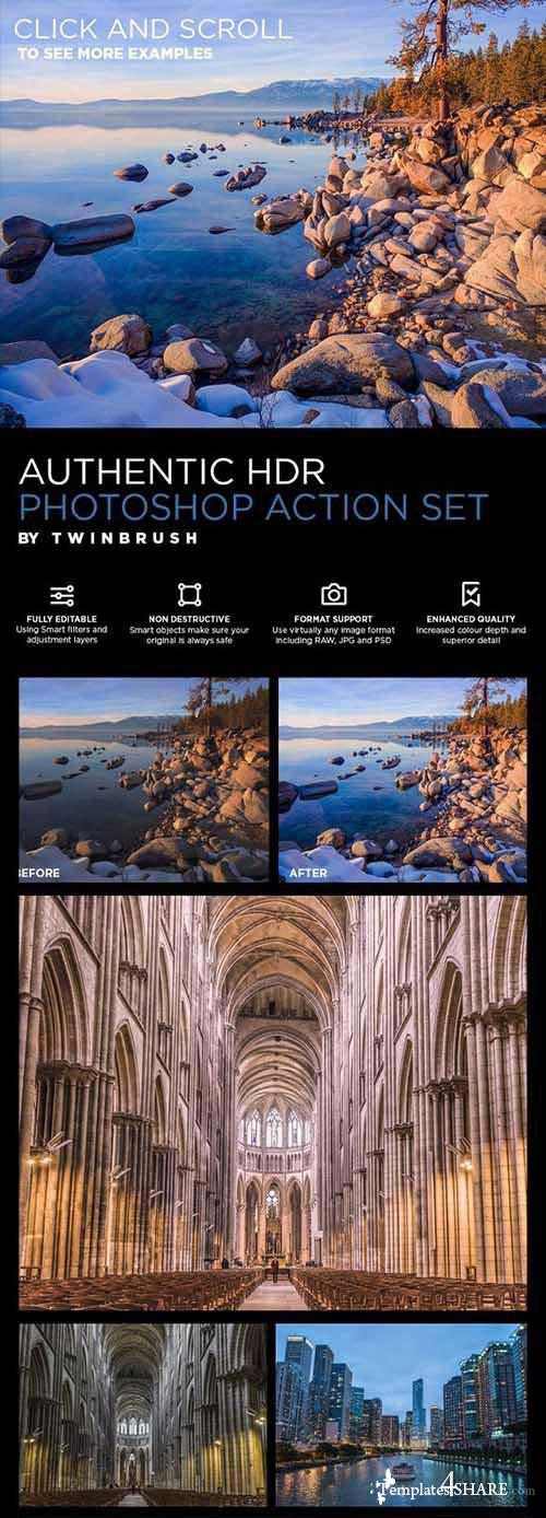 CreativeMarket Authentic HDR Photoshop Action