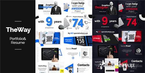 TheWay - Portfolio & Resume - After Effects Project (Videohive)