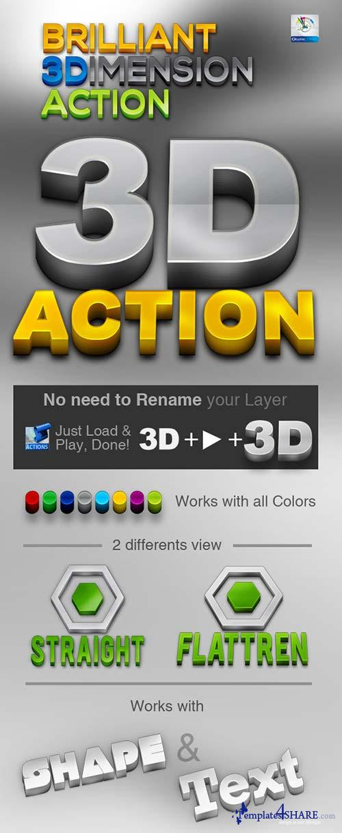 GraphicRiver Brilliant 3D Action